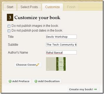 customize the book
