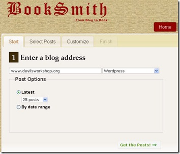 select posts to convert into book