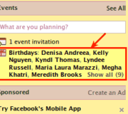 How to highlight birthdays on Facebook