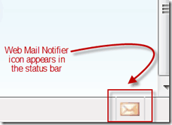 web mail notifier icon