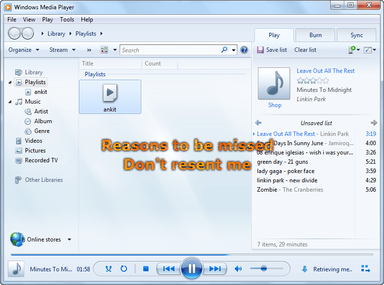 Software to get lyrics to your favourite titles with Winamp