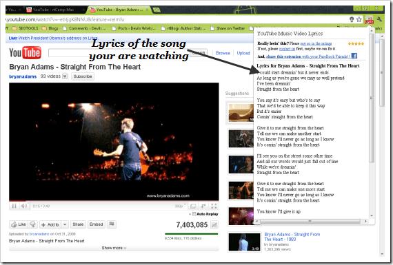 YouTube_extension_Music_Lyrics