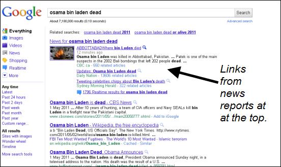 google_search_Osama_dead