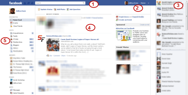 New Facebook Layout and Features