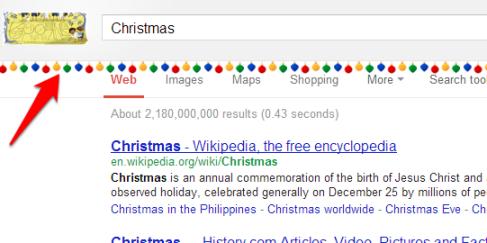 Chirstmas Google Easter Egg
