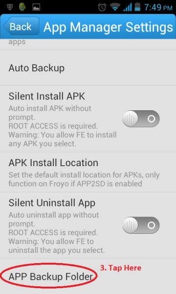 Apps Backup