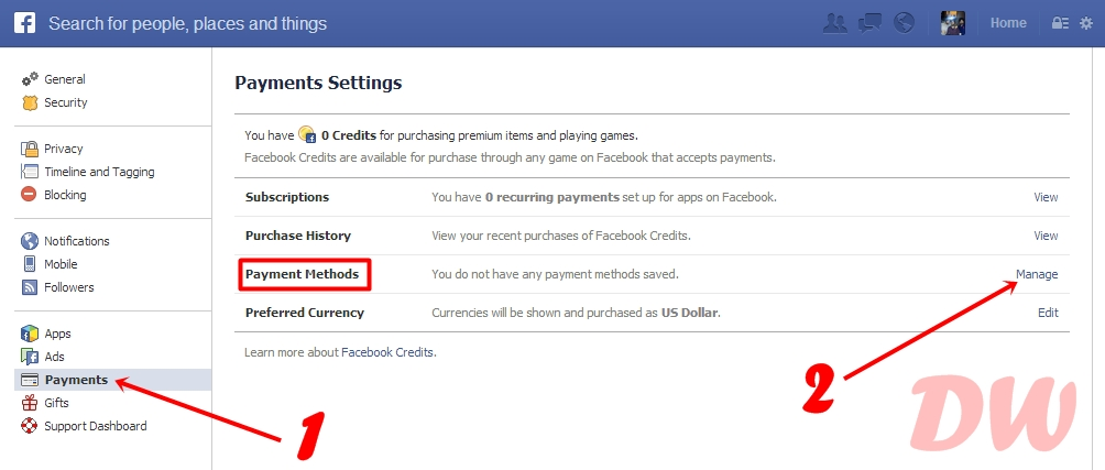 Delete your Credit Card details from Facebook ads without