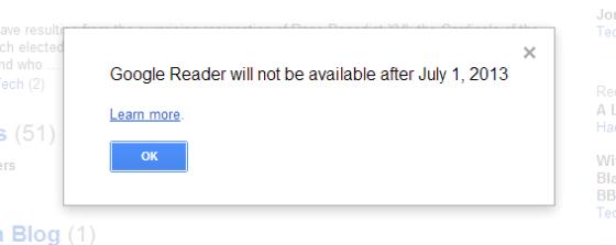 Google Reader Dead