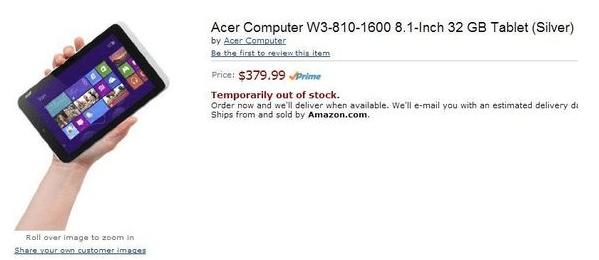 Acer 8 inche Windows 8