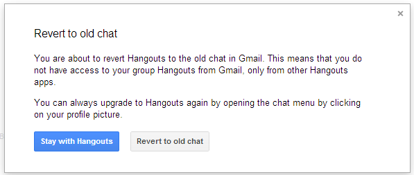 How To Revert to Google Talk from Hangouts in Gmail