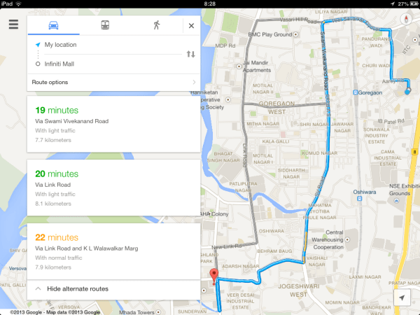 Official Google Maps App for iPad Released on google maps russia, iphone map route, google points of interest, apple map route, world map route, google car route, united states map route, google plan route,