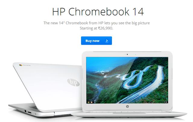 HP Chromebook 14 - India
