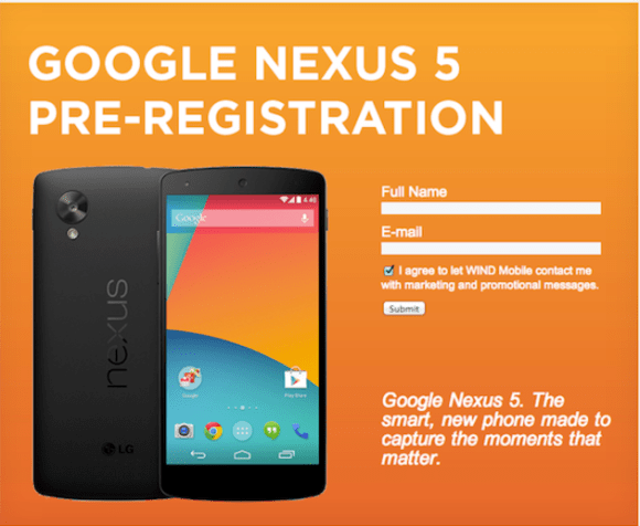 Google Nexus 5 preregister - mistake