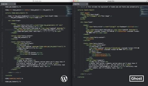 WordPress Vs. Ghost in Theming