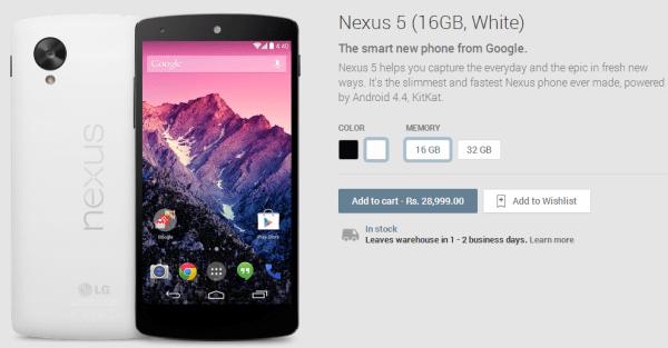 Nexus 5 India