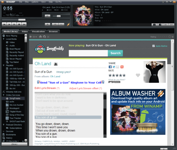 The iconic media player Winamp to shutdown on 20th December 2013.