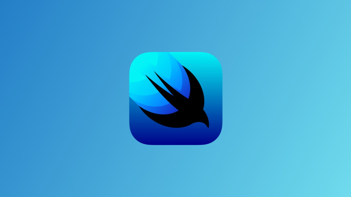 Swiftui icon on blue background