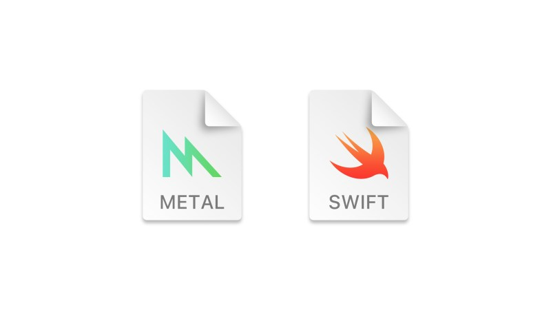 The Swift and Metal document icons both use text strings to clearly identify their document types.
