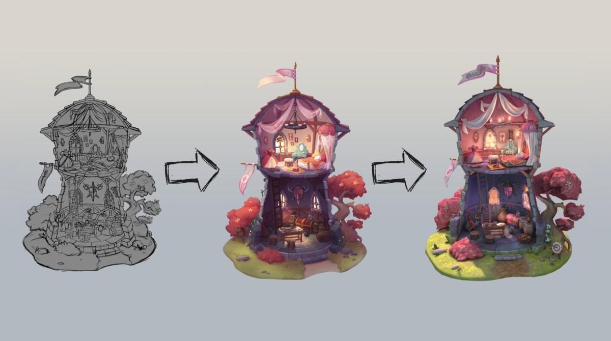 In progress sketches