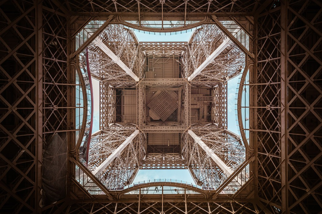 Center of the Eiffel Tower