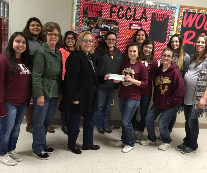 Current Events Club donates  400 to Devine FCCLA     The Devine News Current Events Club donates  400 to Devine FCCLA
