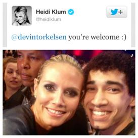 Supermodel Heidi Klum and Devin Torkelsen