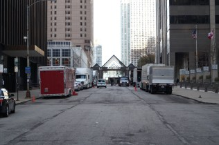 Crews are filming 'Batman vs. Superman: Dawn of Justice' in downtown Chicago, on Mon. Nov. 10, 2015. [Photo by Devin Torkelsen]