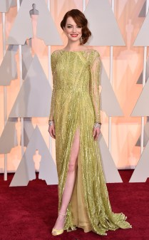 Emma Stone at the 87th annual Academy Awards