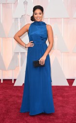 Gina Rodriguez at the 87th annual Academy Awards