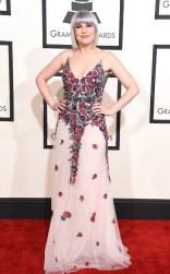 Lisa Harriton at the 57th annual Grammy Awards