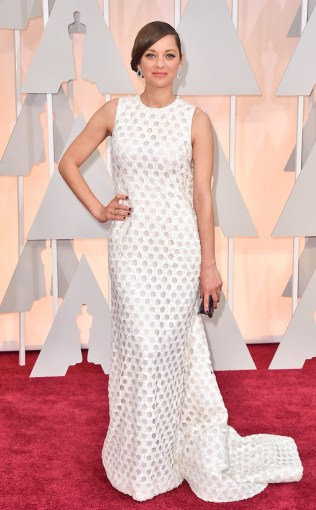 Marion Cotillard at the 87th annual Academy Awards