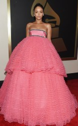 Rihanna at the 57th annual Grammy awards