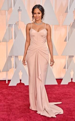 Zoe Saldana at the 87th annual Academy Awards