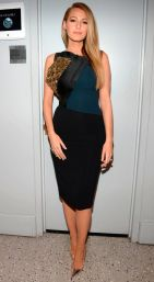 Blake looking sexy in this Antonio Berardi dress which was fit to perfection for The Tonight Show with Jimmy Fallon
