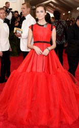 Allison Williams at the 2015 Met Gala on May 4, 2015 at the Costume Institute Benefit Gala at the Metropolitan Museum of Art in New York.