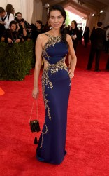 Wendi Murdoch at the 2015 Met Gala on May 4, 2015 at the Costume Institute Benefit Gala at the Metropolitan Museum of Art in New York.