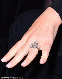 Mariah Carey engagement ring from James Packer. That's a 35 carat diamond ring!