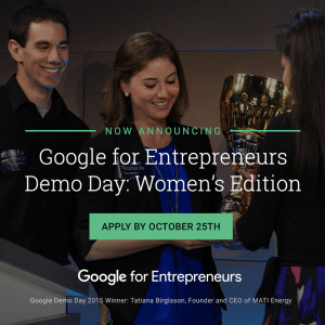 Google for Entrepreneurs Demo Day: Women's Edition