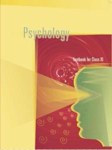NCERT 11th Psychology