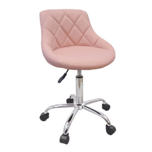 light_pink_rolling_stool_back_rest_1