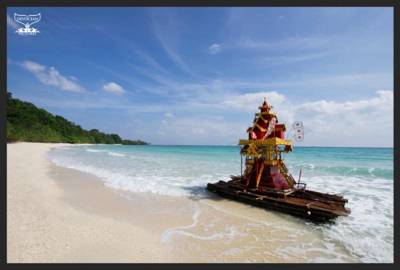 Birmese Temple washed onshore at Merk Bay/Andaman Islands on Christmas Day 2013