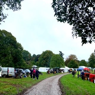 Walking into the Apple Festival at Killerton National Park