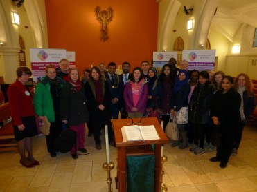 R.C. Church of St. Nicholas of Tolentino: TIFFY & members of the public reach the end of the Faith Trail
