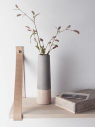 Concrete and Blush Vase