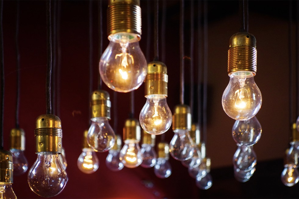Light bulbs over heads are iconic representations of great ideas