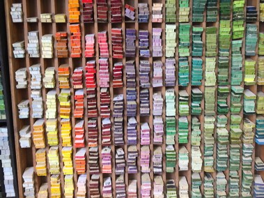 Italian glass color palette