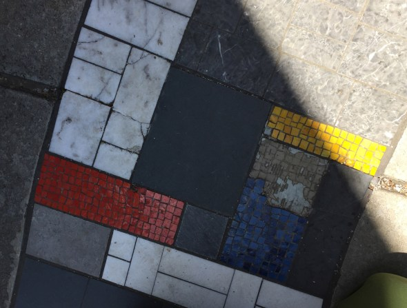 Initial evaluation of the missing and loose tesserae and cracked marble