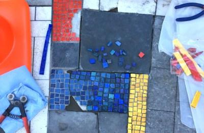Mosaic Repair, Ella Mae Shamblee Branch Public Library, October 2018