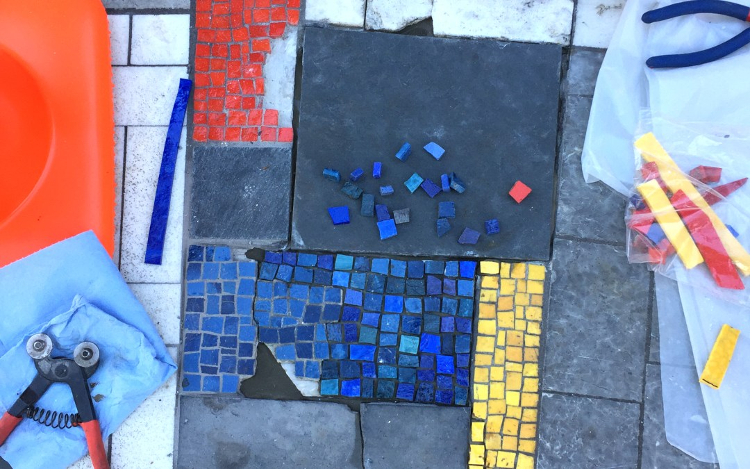 Mosaic Repair, Ella Mae Shamblee Branch Public Library, October 2018