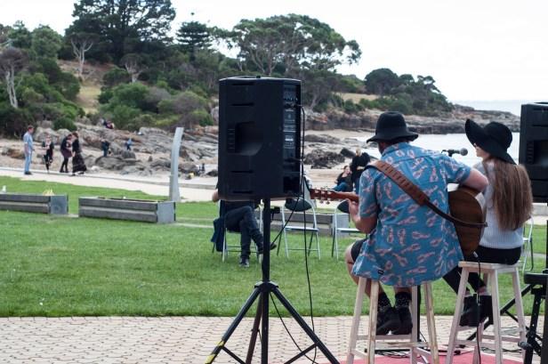 Isaac and Olivia Kelly performing